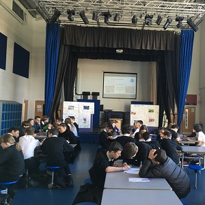 Students working on the Big Ideas Day at Biggar High School