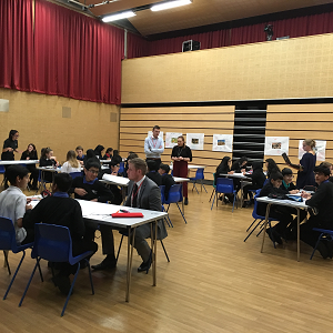 Students working on the Dixons City Big Ideas Day